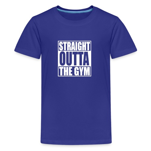 STRAIGHT OUTTA THE GYM HUMOUR LOGO - Kids' Premium T-Shirt