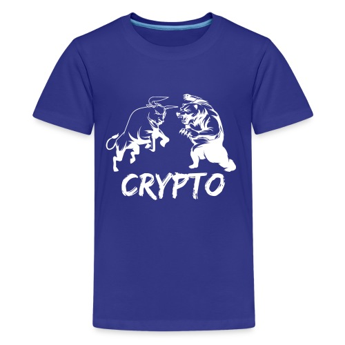CryptoBattle White - Kids' Premium T-Shirt