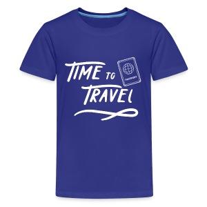 Time to Travel Tshirt - Kids' Premium T-Shirt