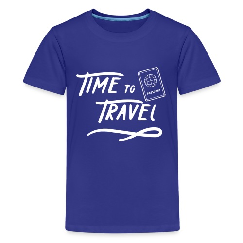 Time to Travel Tshirt - Kids' Premium T-Shirt