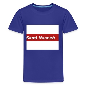 sami Naseeb red color texet - Kids' Premium T-Shirt