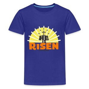 He is Risen it's Easter - Kids' Premium T-Shirt