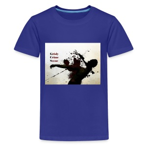 Grisly Crime Scene man shot - Kids' Premium T-Shirt
