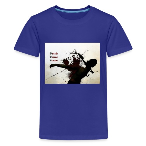 Grisly Crime Scene man shot - Kids' Premium T-Shirt