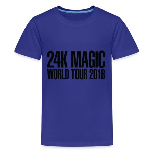BRUNO MARS 24K MAGIC WORLD TOUR 2018 T-Shirt - Kids' Premium T-Shirt