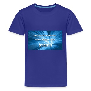 My outro sentence - Kids' Premium T-Shirt