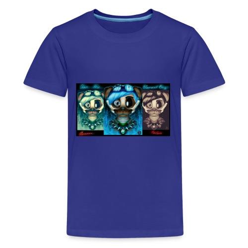 dan the diamond dog dantdm fnaf crossover by cin - Kids' Premium T-Shirt