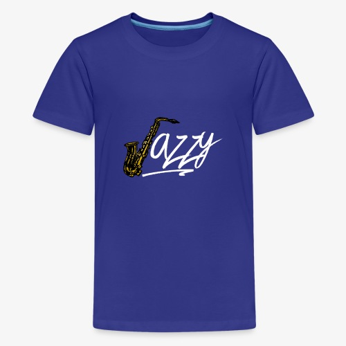 JazzyShirt-WhiteEdition - Kids' Premium T-Shirt