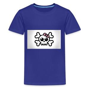 skull bow drawing 85690 1920x1080 - Kids' Premium T-Shirt