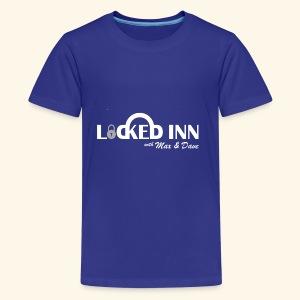 locked inn logo white - Kids' Premium T-Shirt