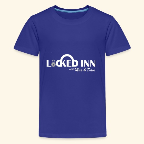locked inn logo white - Kids' Premium T-Shirt
