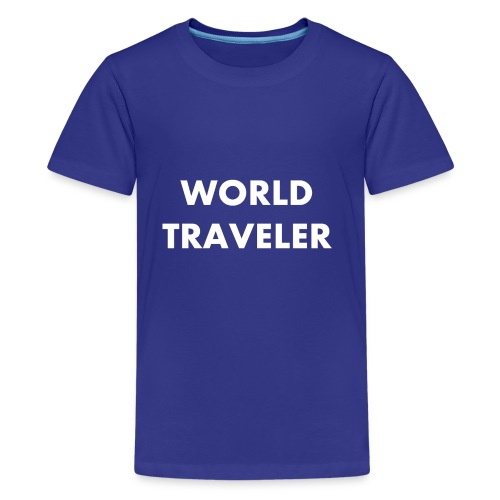 World Traveler White Letters - Kids' Premium T-Shirt