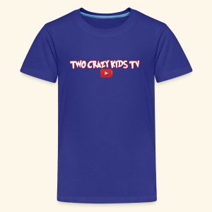 Crazy Kids Name with youtube Logo - Kids' Premium T-Shirt