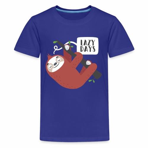 Lazy Day Sloth - Kids' Premium T-Shirt