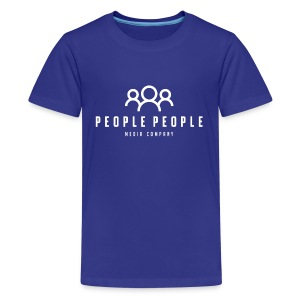 People People Media Co Logo White - Kids' Premium T-Shirt