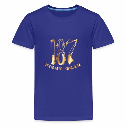 187 Fight Gear Gold Logo Street Wear - Kids' Premium T-Shirt