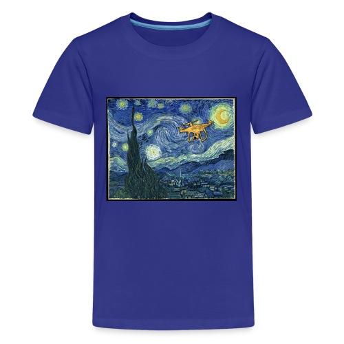 Starry Night Drone - Kids' Premium T-Shirt