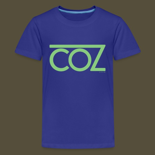 coz_logo_lightgreen - Kids' Premium T-Shirt
