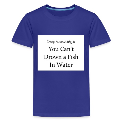 Drop Knowledge Fish - Kids' Premium T-Shirt