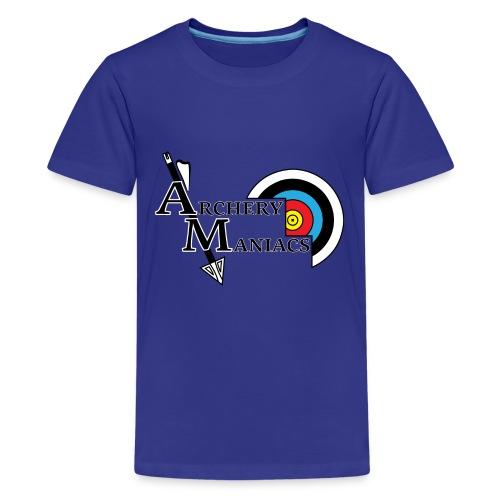 Archery Maniacs White Outline - Kids' Premium T-Shirt