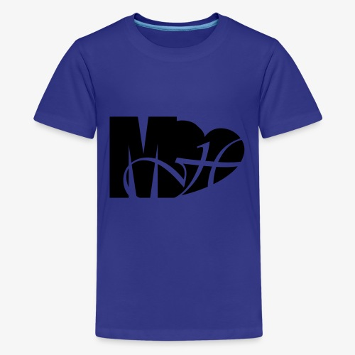 Mo Heart Solid White - Kids' Premium T-Shirt
