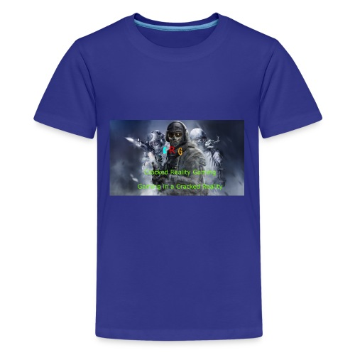 Cracked Reality Gaming Logo - Kids' Premium T-Shirt