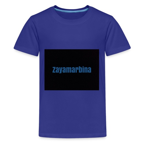 Zayamarbina bule and black t-shirt - Kids' Premium T-Shirt