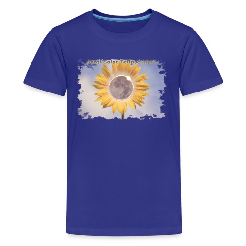 Total Sunflower Eclipse Design 2 - Kids' Premium T-Shirt