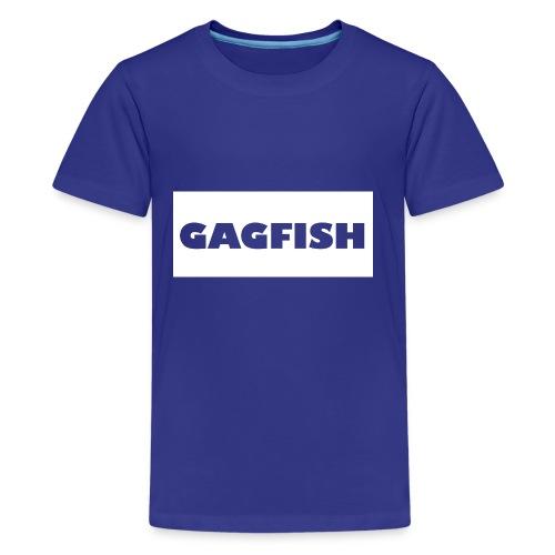 GAGFISH WIGHT LOGO - Kids' Premium T-Shirt