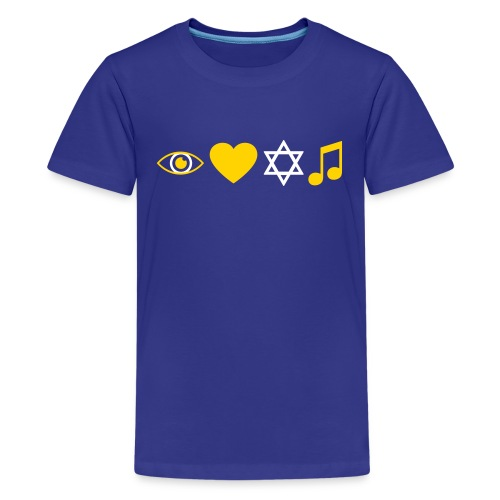I Love Jewish Music - Kids' Premium T-Shirt