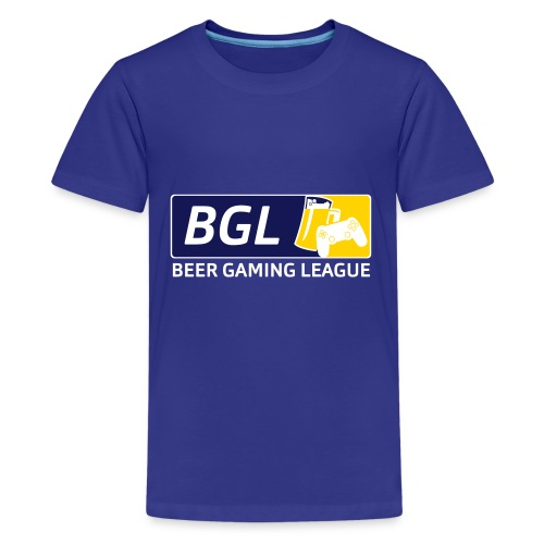 Mens Official Beer Gaming League Shirt - Kids' Premium T-Shirt