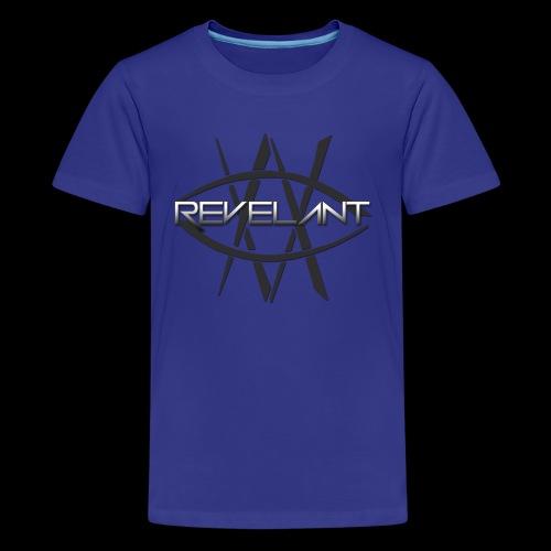 Revelant eye and text logo, black. - Kids' Premium T-Shirt