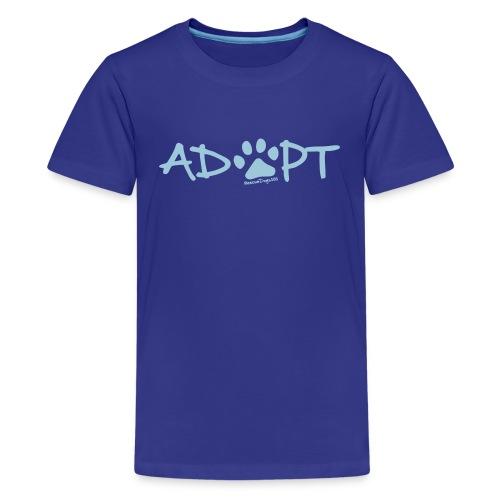 Rescue Dogs 101Adopt Pawprint - Kids' Premium T-Shirt