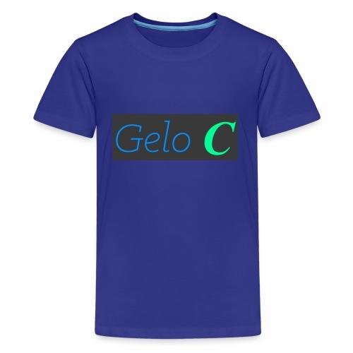GeloC Rectangle Gray Logo - Kids' Premium T-Shirt