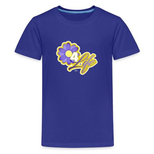 purp flowersss - Kids' Premium T-Shirt