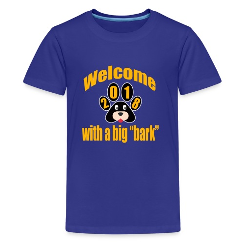 welcome 2018 with a big bark - Kids' Premium T-Shirt