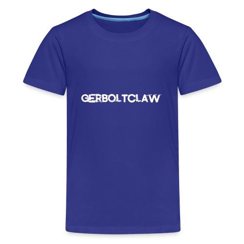 White Gerboltclaw LOGO - Kids' Premium T-Shirt