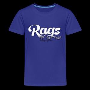 RAGSROLLINGLOGOBLUE - Kids' Premium T-Shirt