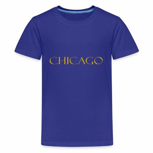 Chicago Gold Letter Design - Kids' Premium T-Shirt