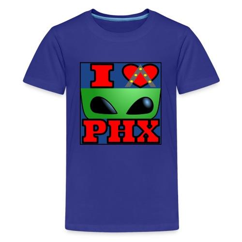 I Love Phoenix, Alien - Kids' Premium T-Shirt