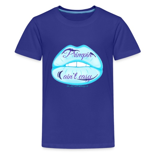 Blue Glitter Pimpin Ain't Easy - Kids' Premium T-Shirt