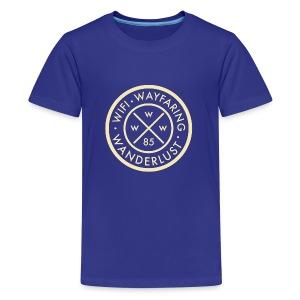 Wifi, Wayfaring, & Wanderlust - Kids' Premium T-Shirt