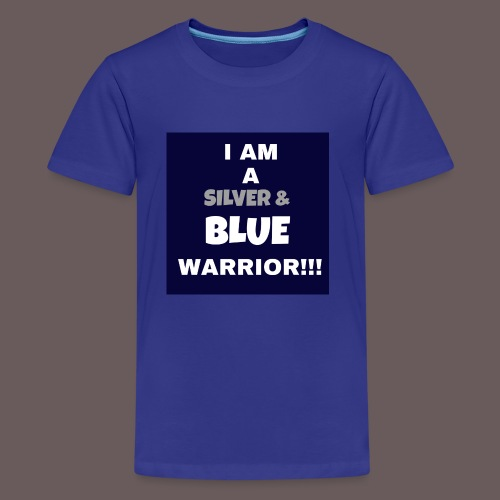 Silver Blue warrior - Kids' Premium T-Shirt