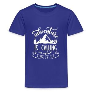 Adventure is Calling Tshirt - Kids' Premium T-Shirt
