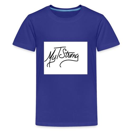 MyTStrong_Script - Kids' Premium T-Shirt