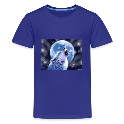 howling wolf wallpapers wide For Desktop Wallpaper - Kids' Premium T-Shirt