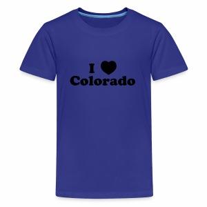 colorado heart - Kids' Premium T-Shirt