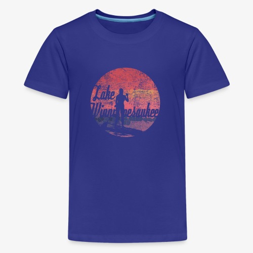 Lake Winnipesaukee Paddle Board Tee Shirt - Kids' Premium T-Shirt