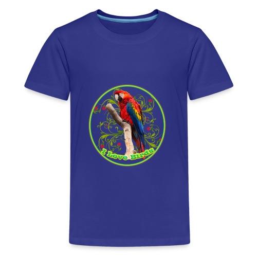 I Love Birds - Cool - Kids' Premium T-Shirt