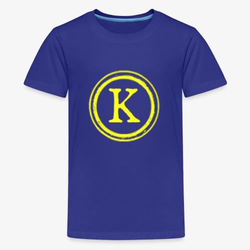 1000x1000 yellow logo - Kids' Premium T-Shirt